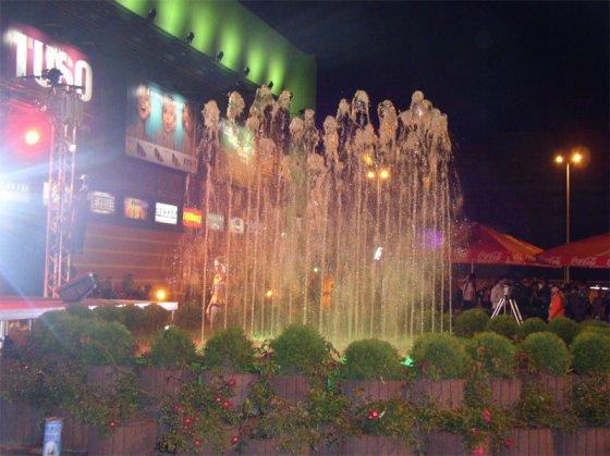 Фонтан у т.ц. «Альта Центр» Вечер. Киев